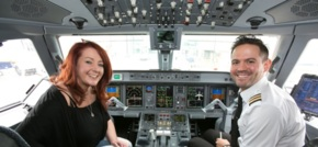 Flybe surprises Manchester passenger with purple VIP treatment