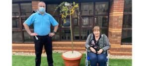 Taunton care home plants pandemic memorial tree