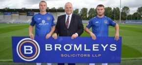 Bromleys Solicitors named as shirt sponsor for Curzon Ashton FC