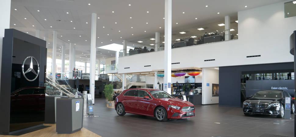 Mercedes-Benz of Erdington supports new car launch with full refurbishment