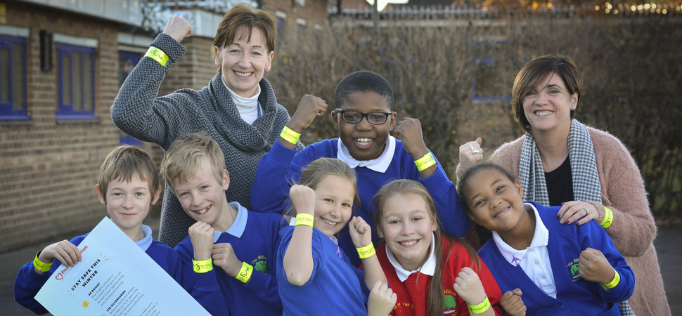 Law firm donates 1,000 reflective bands to schools
