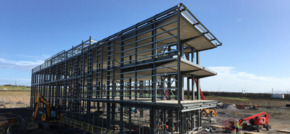 Steel girders mark next step in £20m science park