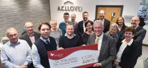 Kind-hearted Warwick business raises money for The Myton Hospices