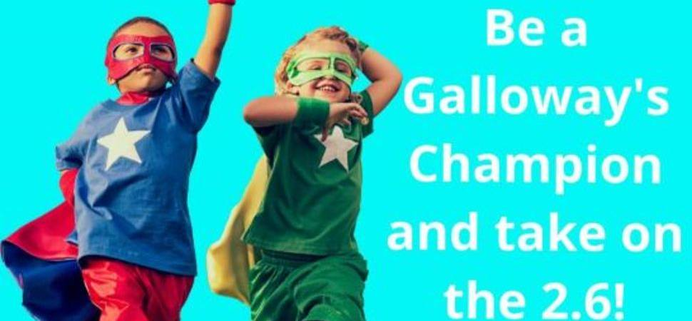 Sight loss charity Galloway's is encouraging people to take part in The 2.6 Challenge