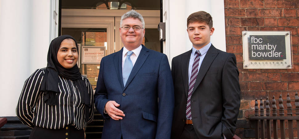 Leading Midlands law firm takes on trio of new apprentices