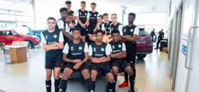 New kits for Northampton junior footballers courtesy of Bristol Street Motors
