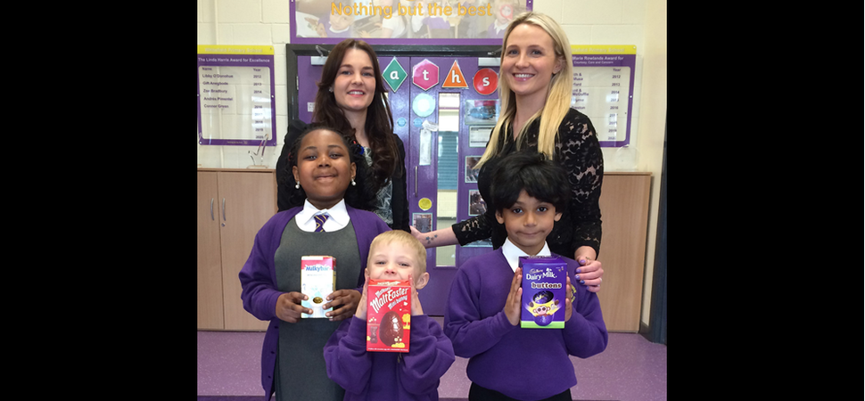 An Easter delivery for Whitefield Primary School