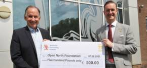 Materials Processing Institute makes charitable donation to support North Easts