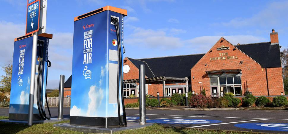 Osprey targets North East for new EV charging hub sites
