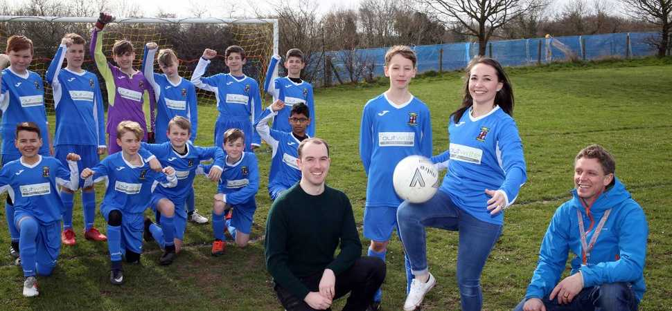 Mold junior football club boosted by digital PR agencys sponsorship