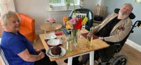 Care home residents revamp conservatory for private dining experiences
