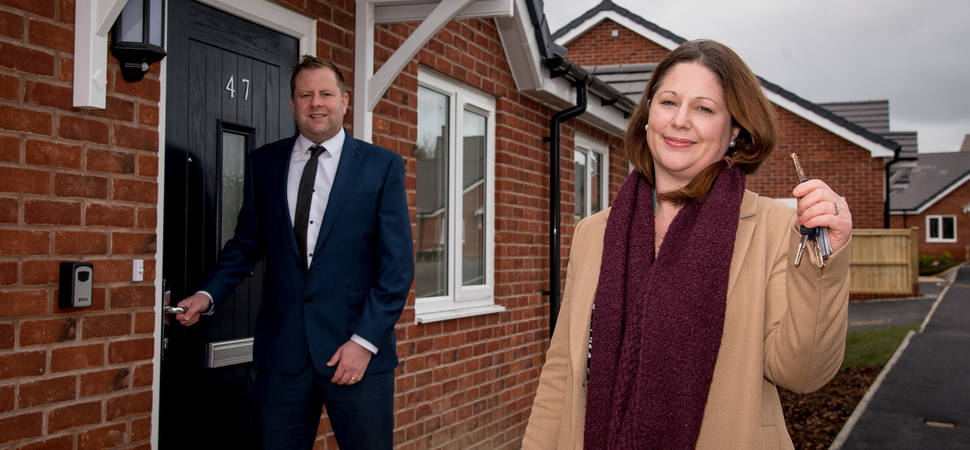 Building contractor hands over new affordable homes in south Shropshire