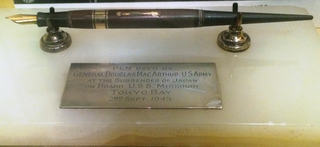 A pen that ended WWII to go on display in Chester