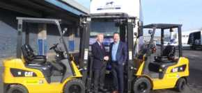 Fork lift truck specialist purrs with success after reaching new milestone