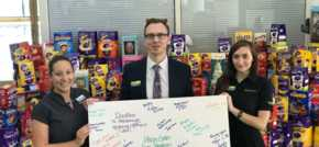 Generous health club members donate Easter eggs to children's ward