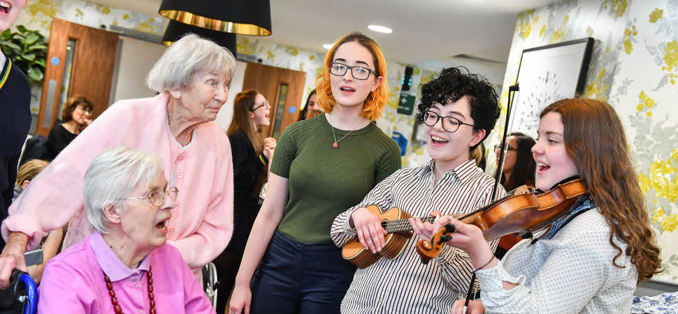 Residents enjoy musical recital from Altrincham Girls Grammar School
