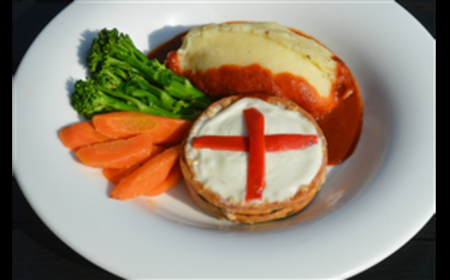 Delifonseca creates fire-breathing pie for St. George's Day