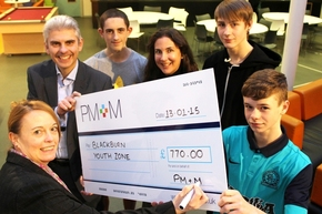 PM+M Presents Cheque to BYZ Following Christmas Fundraising Push