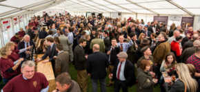 Sanderson Young raises a glass for Ponteland Beer Festival