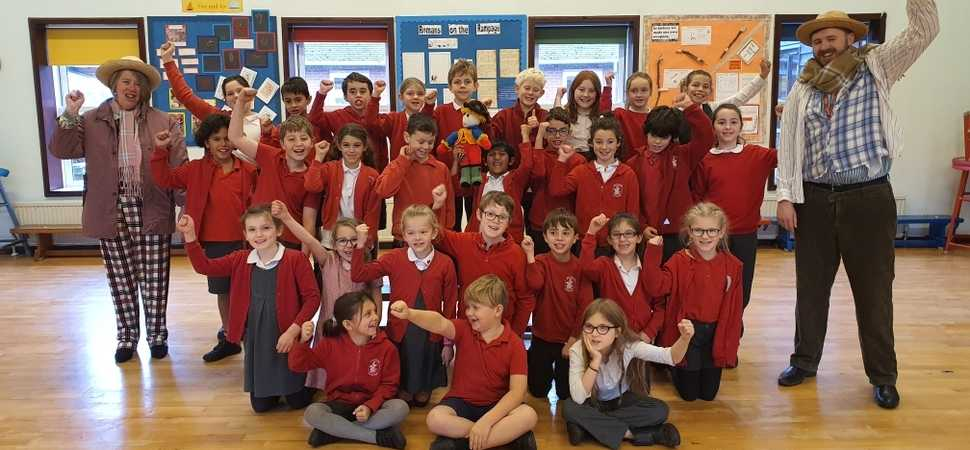 Scarecrow brings Thorrington pupils and care home residents together to learn about dementia