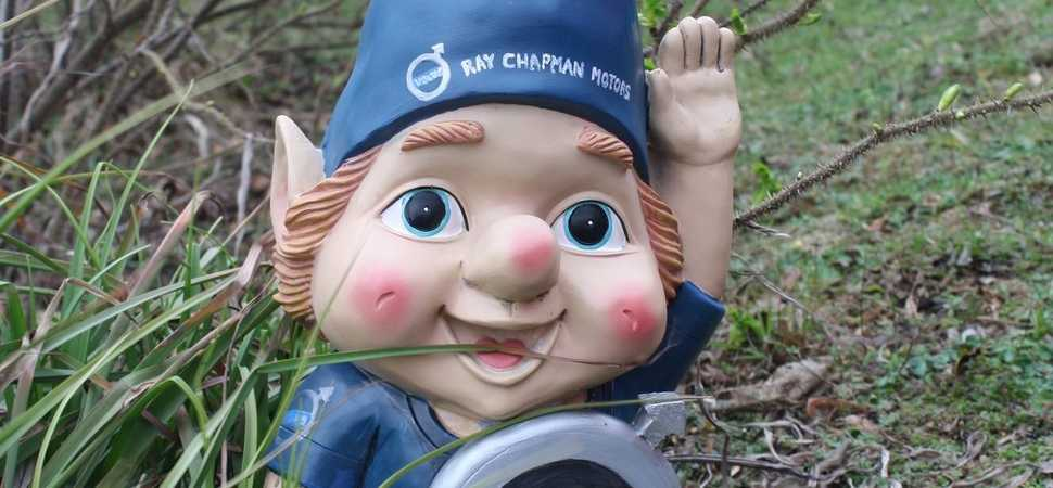 Welcome gnome  local retailer gives unusual gift to new client