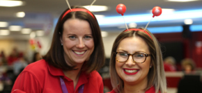 HomeServe volunteers ready to take Comic Relief donations