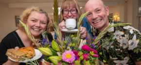 Flour power  Market Harborough housebuilder supports charity with afternoon tea and flower arranging