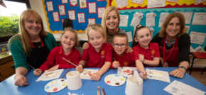 Caddington housebuilder encourages local pupils to get arty