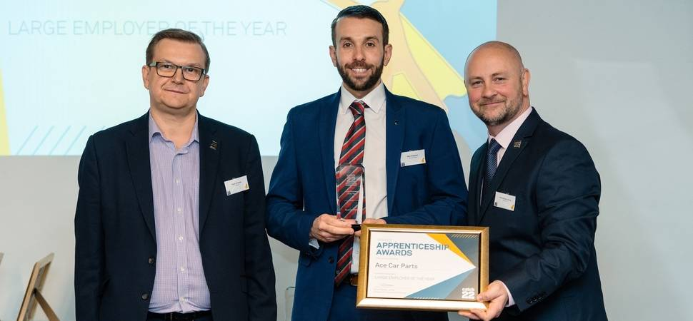 Aceparts recognised for quality of apprenticeship training