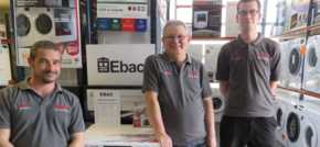 Capital Appliances one of first with new British made washers from Ebac