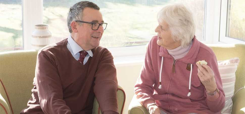 Local MP reminisces with care home residents