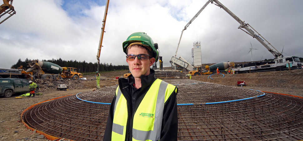 Turbine bases completed at major wind farm project in North Wales
