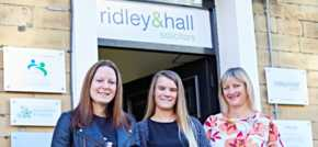 University of Huddersfield law student joins Ridley and Hall