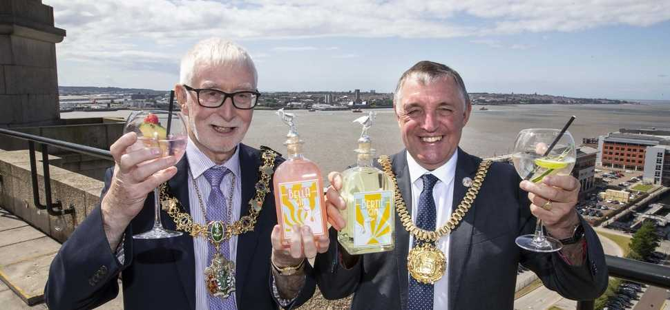 Lord Mayor of Liverpool and Wirral Mayor launch new Liver Bird inspired gin at Royal Liver Building 360