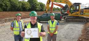 Civil engineering company awarded for decade of gold standard health and safety