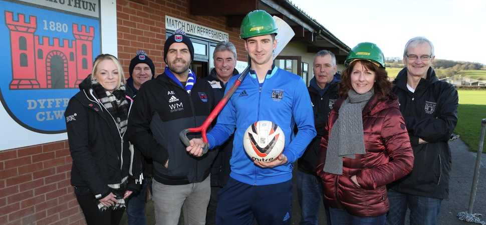 Work starts on new stand for Ruthin Town Football Club