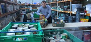 Healthy Investment makes donation to local food bank