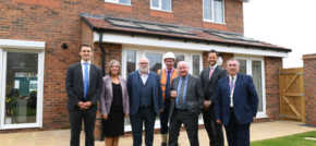 Councillors Mike Bird and Adrian Andrew Unveil New Wednesbury Housing Development