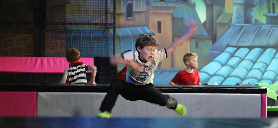 Scouts celebrate centenary at Chatham trampoline park