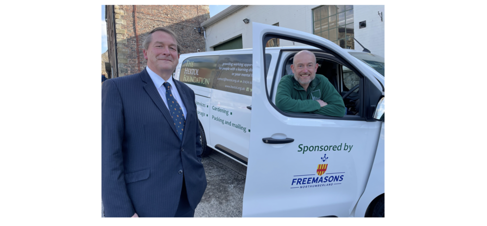 Northumberland Freemasons Donate Van to Charity