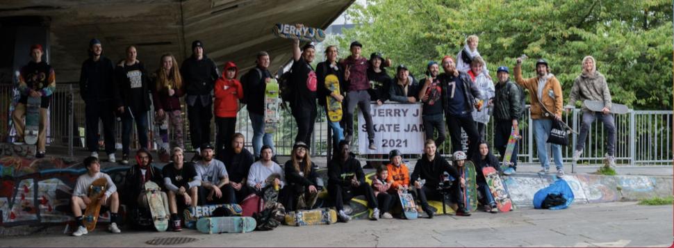 Skate Jam Success For Jerry J Clothing Team