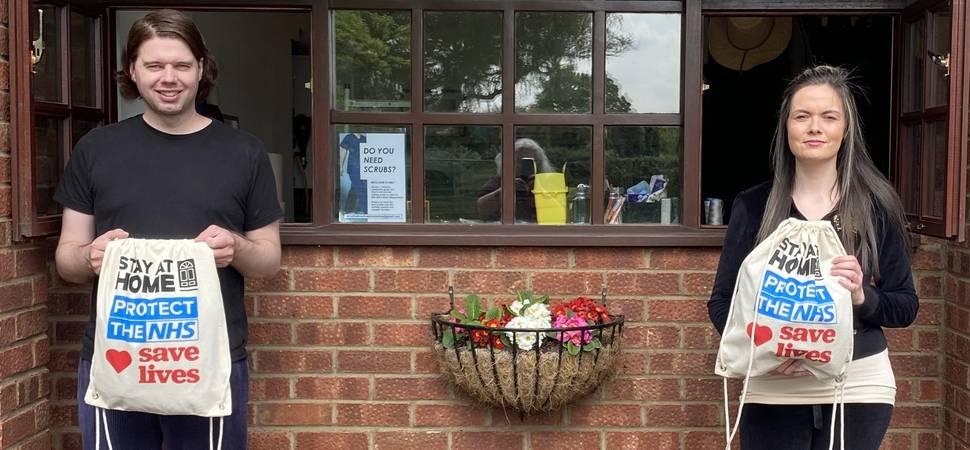 Volunteers team up to make vital scrubs for NHS workers