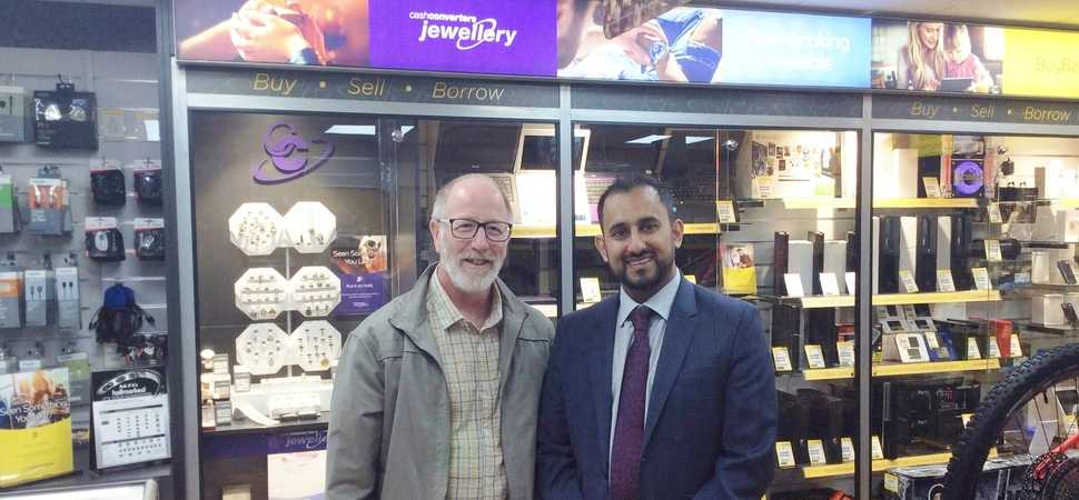Shaz Sardar opens second Cash Converters - New store now on Lochee High Street