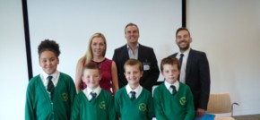 Local primary school kids enter the Dragons Den