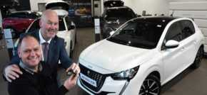 Chris is first to drive away in all-new 208 after Simon Bailes Peugeot launch event