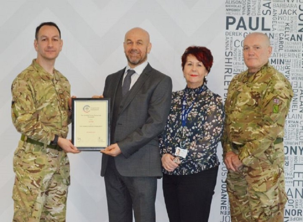 Merseyside-based Sovini Group achieve Armed Forces Corporate Covenant