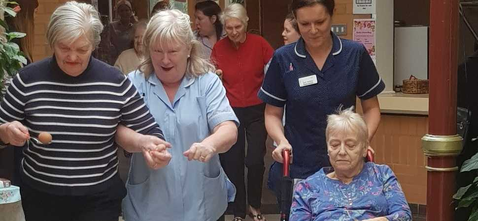 Care home sports day keeps residents fit and active