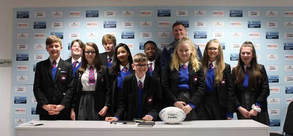 Bollington show Manchester school children life behind the scenes at Sale Sharks