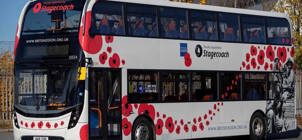 Stagecoach Remembrance buses get a personal touch