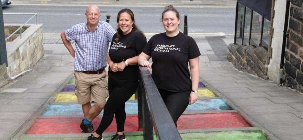 Drab walkway given a colourful continental makeover ahead of Carnival celebration